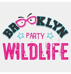 Brooklyn wildlife party vector