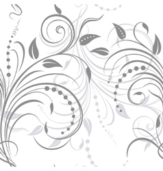 Swirling plant ornament vector
