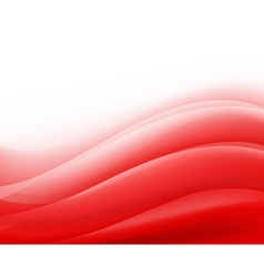 Red waves background folding vector