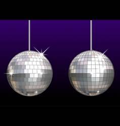 Disco ball set vector