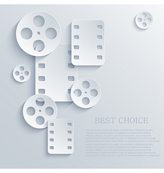 Film icon background eps10 vector