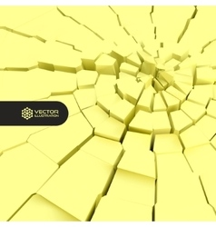 Cracked background 3d vector