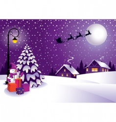 Christmas in the country vector