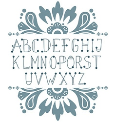 Hand written abc letters vector