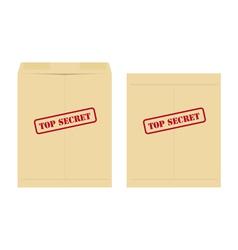 Top secret envelope vector