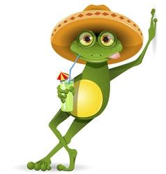 Frog in a hat vector