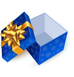 Gift box with golden ribbon vector