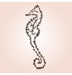 Decorative seahorse vector