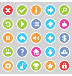 Flat game icons 8 vector