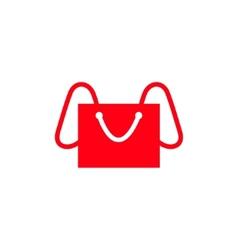 Shopping bag - elephant abstract sign vector