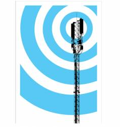 Mobile communication mast vector