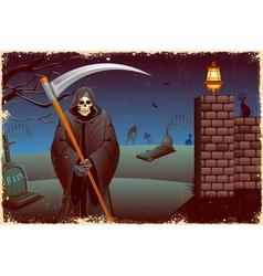 Grim in halloween night vector