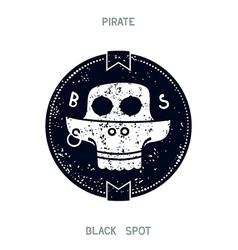 Pirate black spot vector