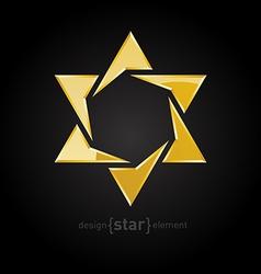 Luxury golden star on black background vector