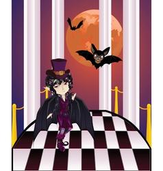 Vampire on balcony vector