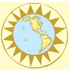 Compass rose earth vector