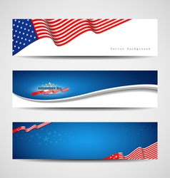 Independence day banner background vector