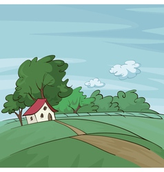 Late summer landscape vector