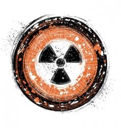 Radioactive background vector