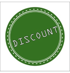 Discount icon badge label or sticke vector