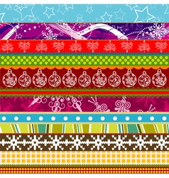 Scrapbook christmas patterns for design vector