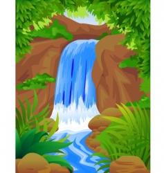Waterfall vector