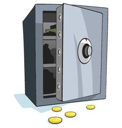 Open bank safe vector