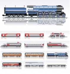 Railroad transportation vector