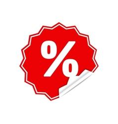 Sticker percent vector