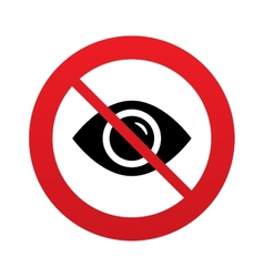 Dont look eye sign icon visibility vector