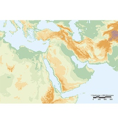 Middle east physical vector