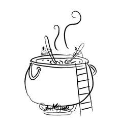 Delicious soup cook vector