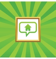 Home message picture icon vector