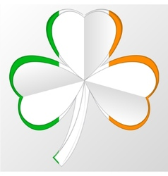 Irish flag and symbol combination on white vector