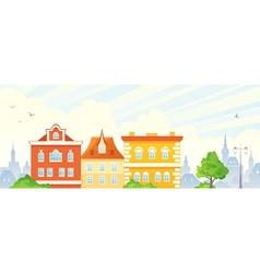 Summer town banner vector