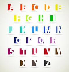 Alphabet set of bright color vector
