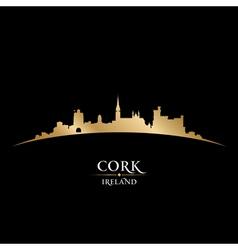 Cork ireland city skyline silhouette vector