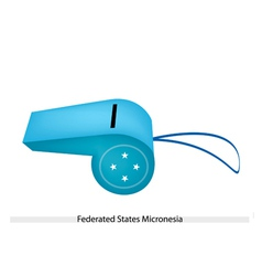 A whistle of federated states of micronesia vector