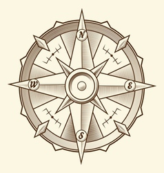 Vintage graphic compass vector