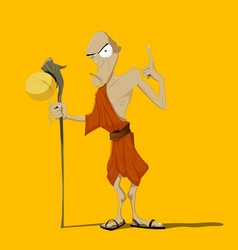 Buddhist monk vector
