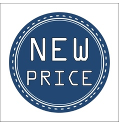 New price icon badge label or sticke vector
