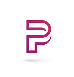 Letter p logo icon design template elements vector