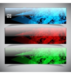 Smooth colorful abstract techno banners vector
