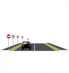 Road confusion vector