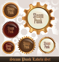 Steampunk labels vector