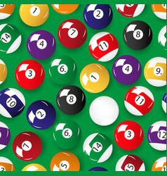 Set of color billiards balls seamless pattern vector