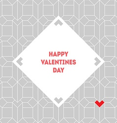 Valentines day vintage card with abstract vector