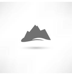 Grey mountains symbol vector
