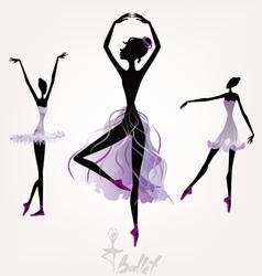 Ballet dancers vector