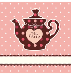 Card with teapot vector